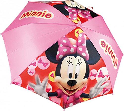 Minnie Maus Mouse Regenschirm Ø 96cm Kinderschirm Mädchenschirm Regen Mädchen Girls Rosa Rot, Farbe:Rosa hell
