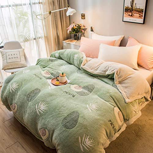 Manta Franela Fleece Funda De Edredón De Invierno Magic Fleece Edredones Funda De Dibujos Animados Cálido Edredón Manta Throw Coral Velvet Plush Bed B