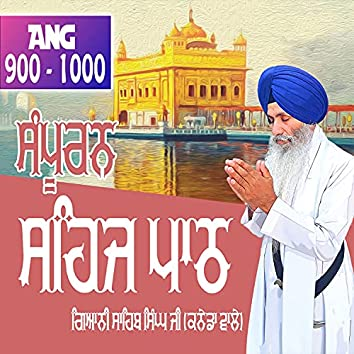 Ang 900 to 1000 Sehaj Path Sri Guru Granth Sahib Ji