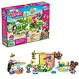 Mega Construx Barbie Cuidado de animales, clínica veterinaria de juguete con muñecas, bloques de construcción y accesorios (Mattel GYH09)