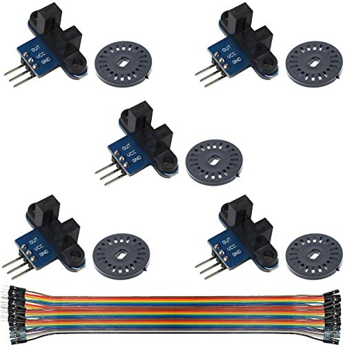Youmile 5Pcs Speed Measuring Sensor IR Infrared Slotted Optical Optocoupler Module Photo Interrupter Sensor for Motor Speed Detection or Arduino with Encoders
