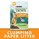 Purina Yesterday's News Clumping Paper Lightweight Cat Litter, Unscented Multi Cat Litter - 20 lb. Bag