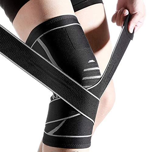 XPOXx Verstellbare Gurte for Männer und Frauen for Outdoor-Sport-Knie-Pads, Stützbeine Riding elastische atmungsaktiv Wärme Anti-Rutsch-Beruf Protective Kniestütze Pads (Color : B, Size : L)