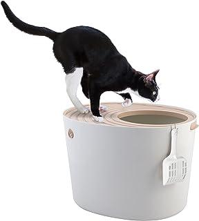 Iris 531240 toaleta dla kota Hop In z wejściem od góry PUNT-530, L, biała