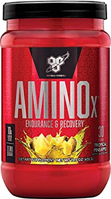 BSN Amino X Muscle Recovery & Endurance Powder with BCAAs, 10 Grams of Amino Acids, Keto Friendly