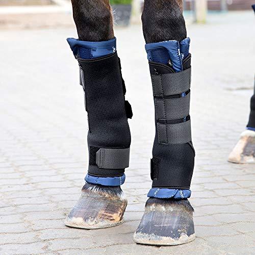 horze Stallgamaschen Pro Front - Schützende Gamaschen - Bandagen - Neopren Material - Stoßabsorbierend - Pferd Müde Beine Unterstützung - Größen Pony Vollblut Warmblut - 2er Set - Herausnehmbares