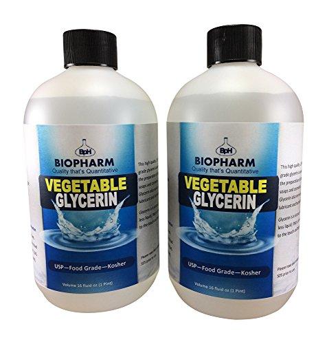 Vegetable Glycerin USP, Food Grade, Kosher 2-Pack 500 mL Each