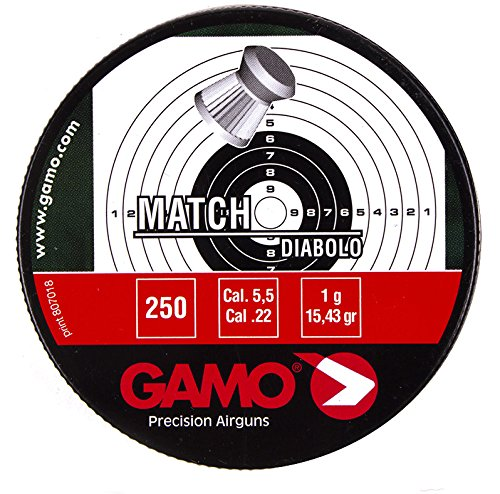 Gamo - Pellets de punta plana calibre .22 (250 unidades)