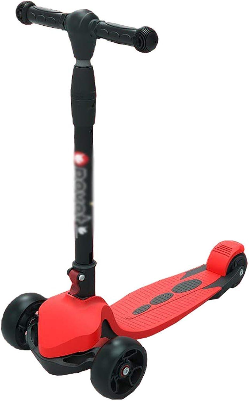 Kinder Scooter Kinderroller hhenverstellbarer und Faltbar Lenker Tret-Roller mit 3-PU blinkenden LED Rollen,Kinder ab 2-12Jahren, bis 50kg belastbar