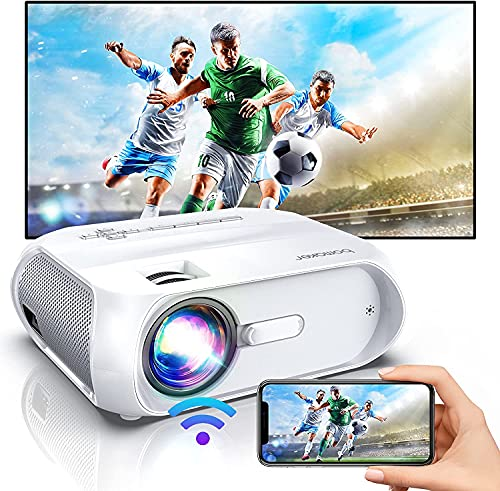 BOMAKER ホームプロジェクター WiFi接続可 6000LM高画質プロジェクター 家庭用 ホームシアター 8W HiFi スピーカー 内蔵 最大200インチ超大画面 パソコン  タブレット  ゲーム機  DVD  PS5  iphone  iOS  Android 接続 ワイヤレス プロジェクター小型