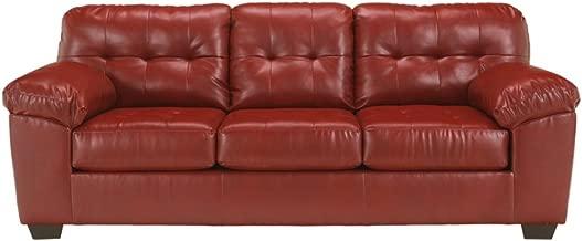 Ashley Furniture Signature Design - Alliston Contemporary Sleeper Sofa - Queen Size Mattress Included - Salsa