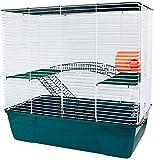 Jaula Hámster 2 Pisos con Escalera Jaula para Hamster Jaula jerbos Degus Jaula para pequeños roedores (Verde)