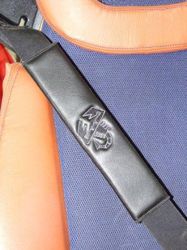 ONEKOOL Cuir Noir (similicuir) pour ceinture de sécurité Coussinets d'épaule