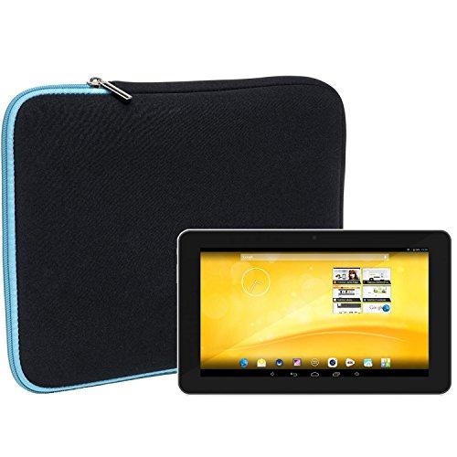 Slabo Tablet Tasche Schutzhülle für TrekStor Volks-Tablet 3G Hülle Etui Hülle Phablet aus Neopren – TÜRKIS/SCHWARZ