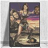 KUANGWENC April Ludgate Vs Black Eyed Peas Poster Druckt