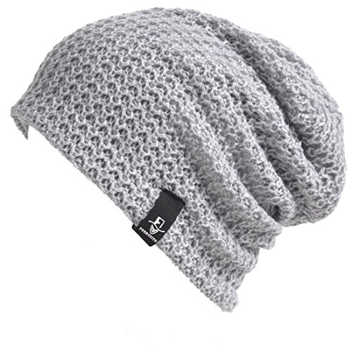 VECRY Kids Slouchy Beanie Winter Hat Cute Boys Girls Children Knitted Skull Cap (Solid-Grey)