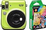 Fujifilm Instax Mini 70 Instant Film Camera (Kiwi Green) and Instax Mini Rainbow Film Value Pack - 10 Images