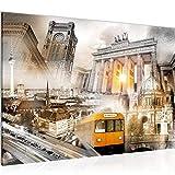 decoración de la mesa del muro de Berlín - 60 x 40 cm Vista de impresión en lienzo Salón Apartamento - listo para colgar - 024915a