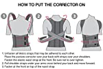 TOROS-GROUP Confort Posture Correcteur et Ceinture de maintien dorsale / 100%-Doublure en Coton - XX-Large, Waist/Belly 111-120cm Black #3