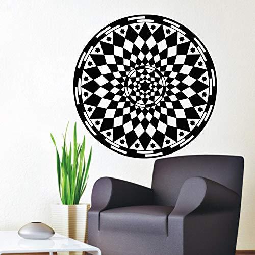 Mandalas flor pegatinas de pared patrón de Yoga diseño de arte pegatina calcomanías de pared decoración del hogar dormitorio pared arte murales A1 43x43cm