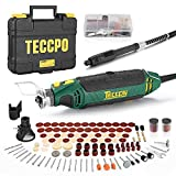 TECCPO Rotary Tool Kit, 110 Accessories, 4 Attachments, Carrying Case, 6 Variable Speed with Flex shaft,...