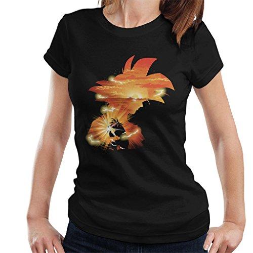 Cloud City 7 Dragon Ball Z Goku Sunset Women's T-Shirt
