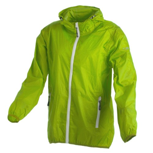 CMP Rain Jacket with Fixed Hood Chaqueta Impermeable con Capucha, Chica, Apple-Green, 176
