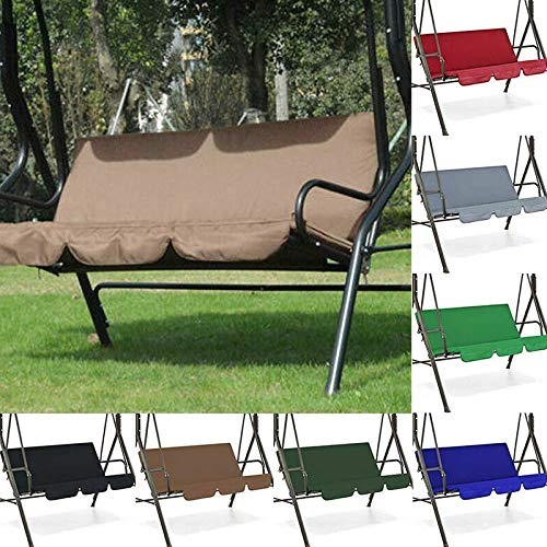 Aemiy Garden Swing Seat Cover-Waterproof Swing Seat Covers Cushions,Swing Chair Cover Bench Cushion Cover for Patio Garden Yard Outdoor Seat Replacement