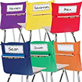 Really Good Stuff Grouping Chair Pockets - Set of 24 - Six Bright Rainbow Colors -...