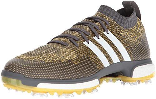 adidas TOUR360 - Zapatillas de golf para hombre, Gris (Gris Five Ftwr Blanco/Eqt Amarillo), 40 EU