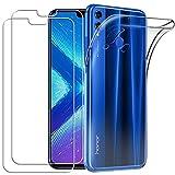 YOOWEI Coque Huawei Honor 8X Transparente+ [2 Pack Verre trempé écran Protecteur], Transparente...