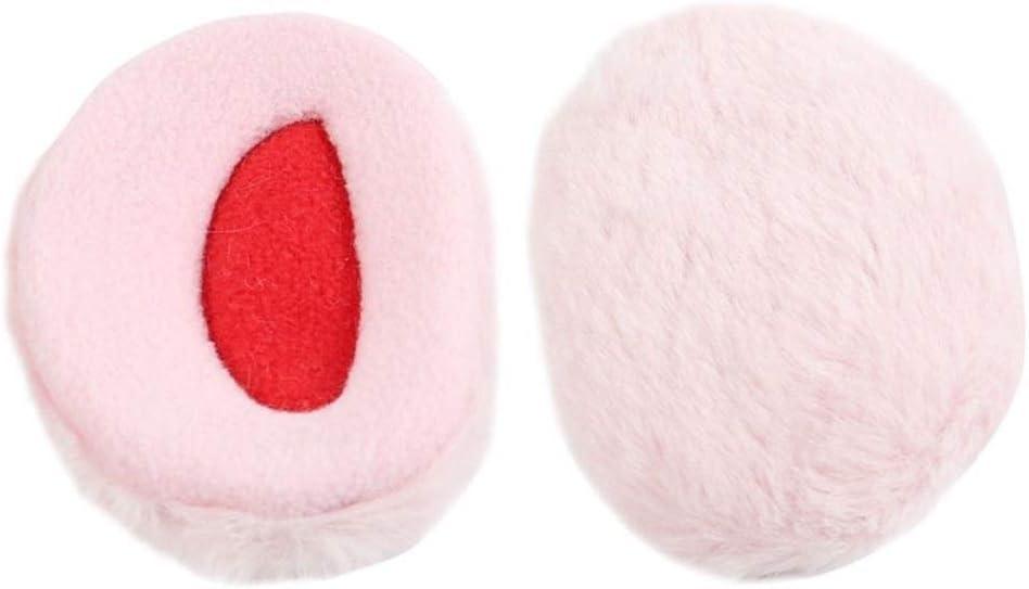 ZYXLN-Earmuffs,Bandless Ear Warmers Ear Muffs for Men & Women Fleece Bandless Ear Warmers Earmuffs Winter Ear Covers Outdoor Fleece Ear Muffs for Men Women Kids (Color : Pink, Size : M)