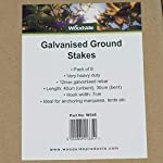 8 x Woodside Galvanised Heavy Duty Steel Ground Stakes / Anchorage Stakes / Tent Pegs – Suitable For Marquees, Gazebos…