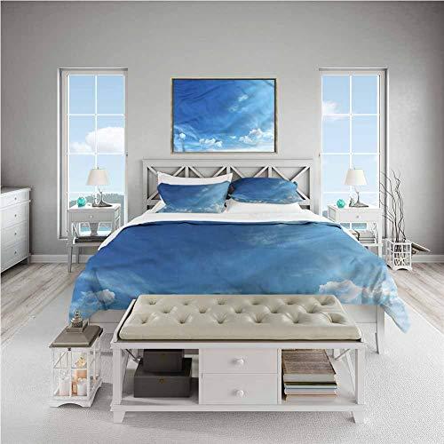 GROGON Duvet Cover Set King Size Sky Inspirational Sun Rays Cover Sets 3 Pieces (1Duvet Cover + 2Pillow Shams), 104x90 inch