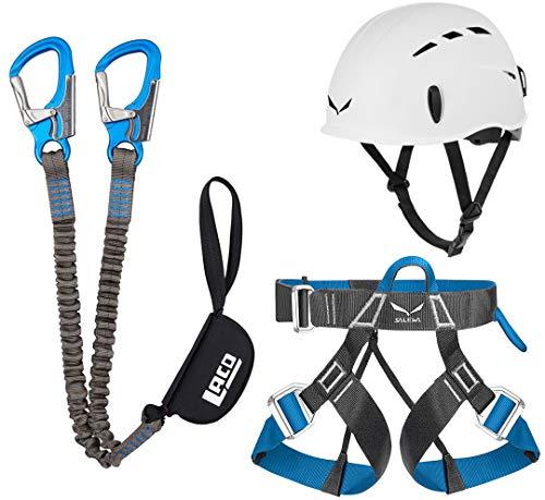 Klettersteigset LACD Pro Evo + Salewa Helm Toxo & Gurt FerrataLite