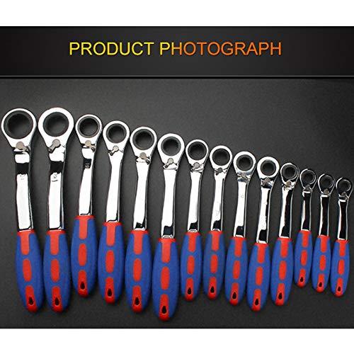 Yongenee 72 dientes de trinquete especial de apertura llave de trinquete for el coche Reapair engranaje de la llave inglesa de la manija mecánica de par Llave (Color : 11mm 1piece)