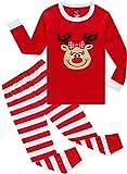 Pajamas Girls Kids Boys Christmas Red Striped Sleepwear Hand Made Deer Clothes Size 2