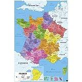Erik - Poster Carte de France 2017 - Papier Glacé - 91x61cm