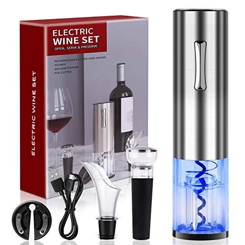 COVELL Abridor de vino, sacacorchos, abrebotellas eléctrico, abrebotellas de vino, abrebotellas eléctrico,...