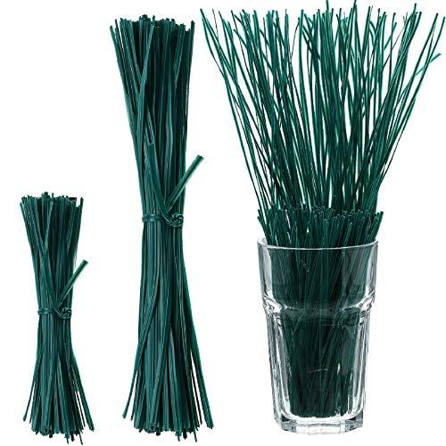 WILLBOND 200 Pieces Adjustable Plant Ties Flexible Garden Plant Ties, 30 cm 15 cm Multi-Function Sturdy Garden Plant Twist Tie Plastic Garden Ties Plant Support Tree Shrub (Green)