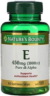 Natures Bounty Vitamin E Pure Dl Alpha 450 mg 1000 IU - 60 Rapid Release Softgels