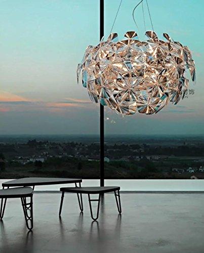 FUHOAHDD Lampe pendante pétillante, Lampe de Plafond Laser, Lampe Acrylique de qualité, Pas de dégagement, Fil Fer fermé, E27,220V
