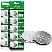10-Pack LiCB CR2025 3V Lithium Battery