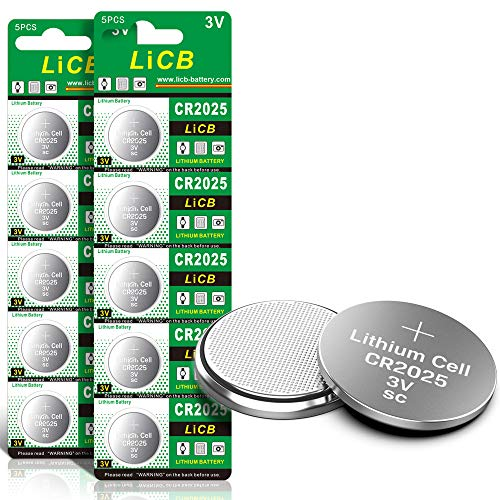 LiCB CR2025 3V Lithium Battery(10-Pack)
