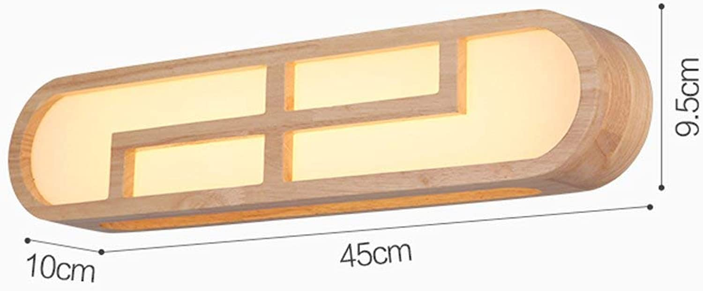 Nordic Kreativitt Massivholz Wohnzimmer Schlafzimmer Bett Wandleuchte Badezimmer Spiegel vordere Lampe, Kommode Make-up-Leuchten   12 W LED warmes Licht (Farbe  E)