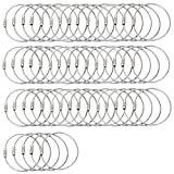 <span class='highlight'><span class='highlight'>BlueCosto</span></span> 50x Stainless Steel String Wire for Luggage Tags Loops/Key Ring