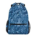 Travel Daypack,Water Textures College School Book Bag Game Travel Bag 40cm(H) x29cm(W)