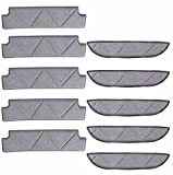 Gdlhsp Washable Microfiber Replacement Window Cleaning Cloths 5 Pair for Ecovacs Winbot W710/W730