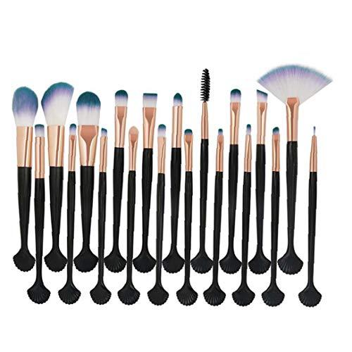 20pcs visage de brosse de maquillage Brosses Kit cosmétiques Brosses Correcteur avec sac de rangement pour la Fondation Sourcils Eyeliner Fard Noir/Or