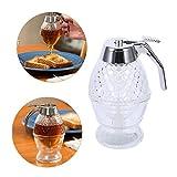 GOTOTOP Dispensador de miel acrílico de 200 ml, recipiente para miel, recipiente portátil, para zumo, bee, goteo, herramienta de cocina